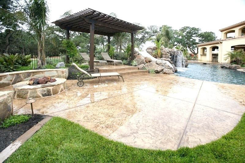 Stamped Concrete Patio Katy TX
